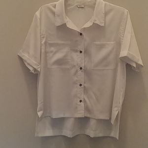 Forever 21 Hi-Low Button Down Blouse